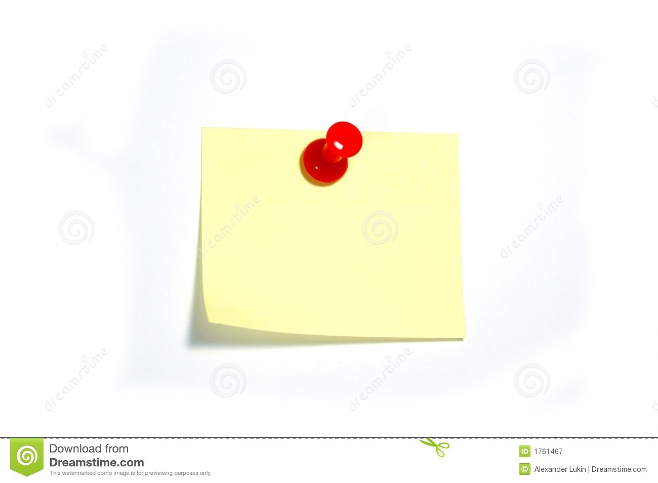 Note With Thumbtack Royalty Free Stock Photography - Image ...