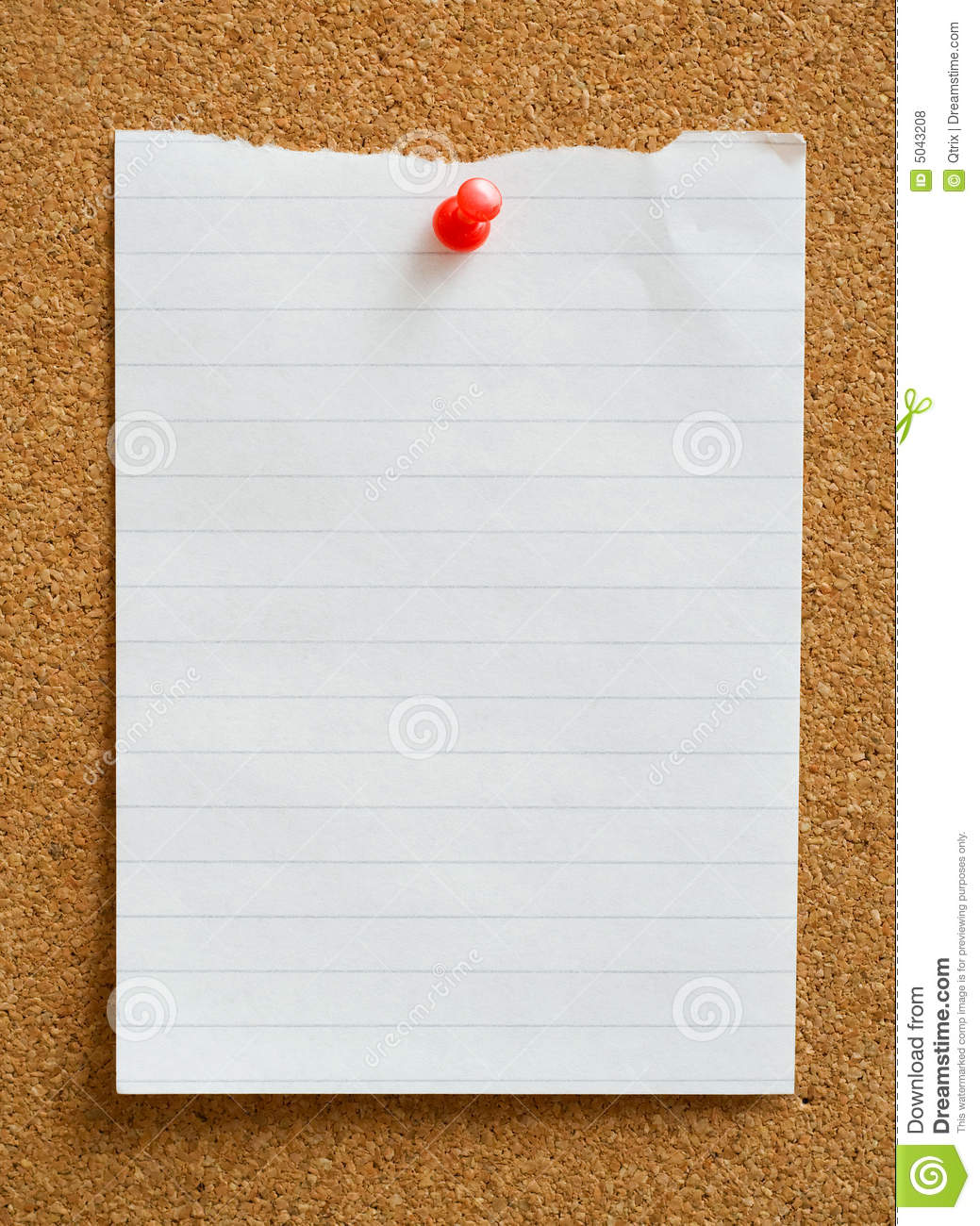 Note With Thumbtack. Royalty Free Stock Photos - Image ...