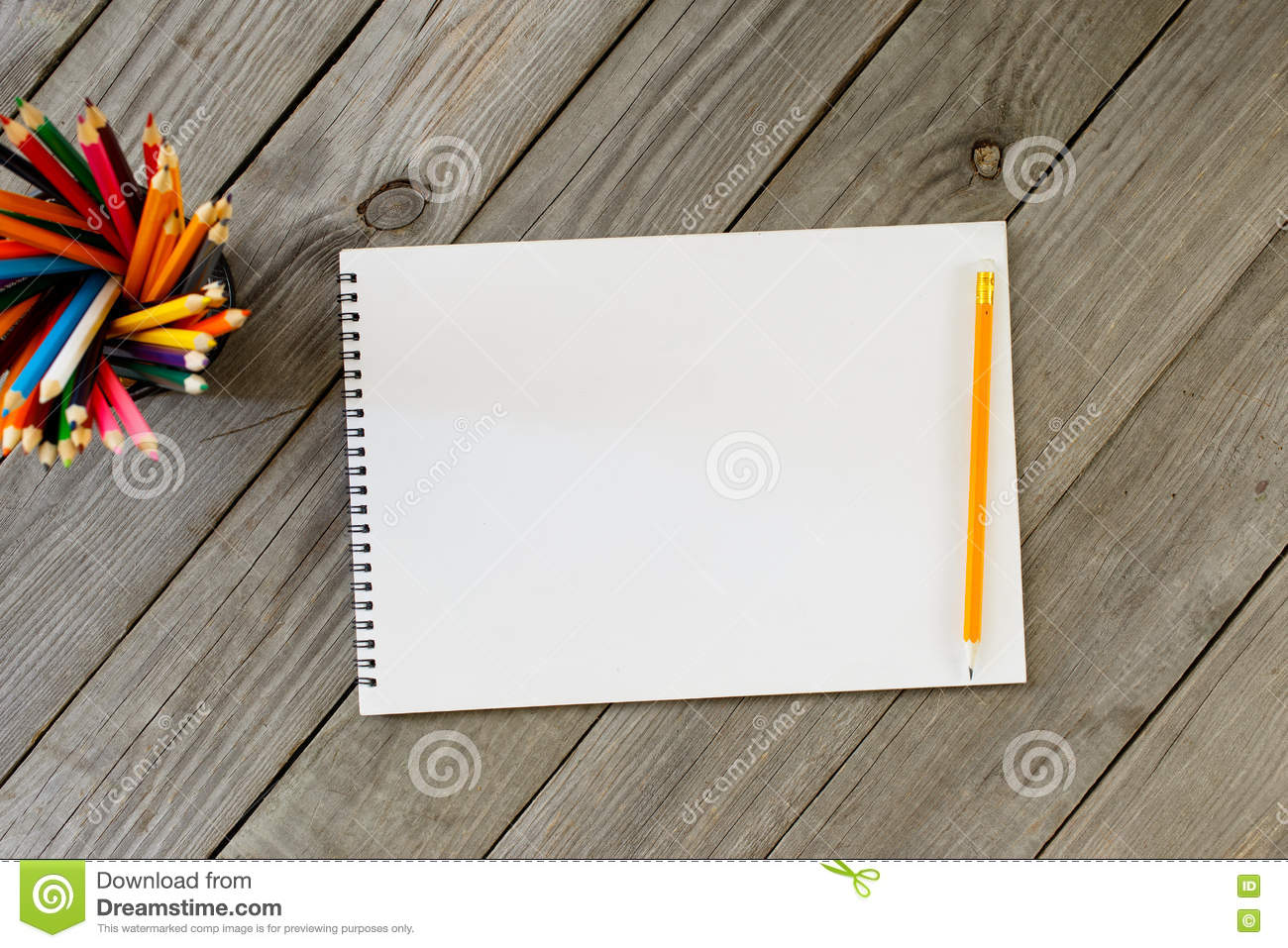 blank colored notebook