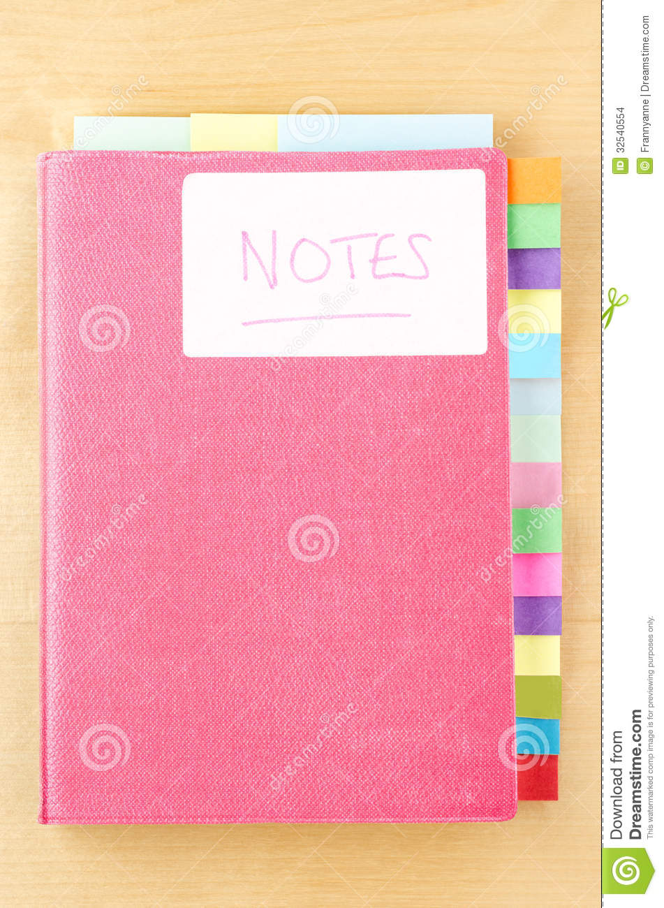 Notebook With Blank Tab Dividers Stock Images Image