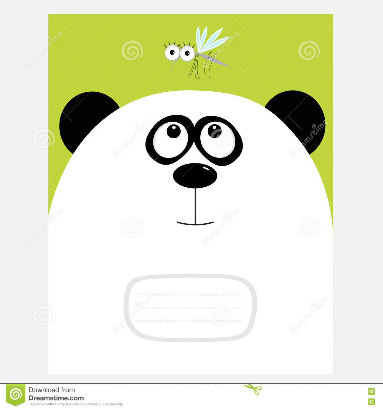 notebook cover composition book template panda bear big head