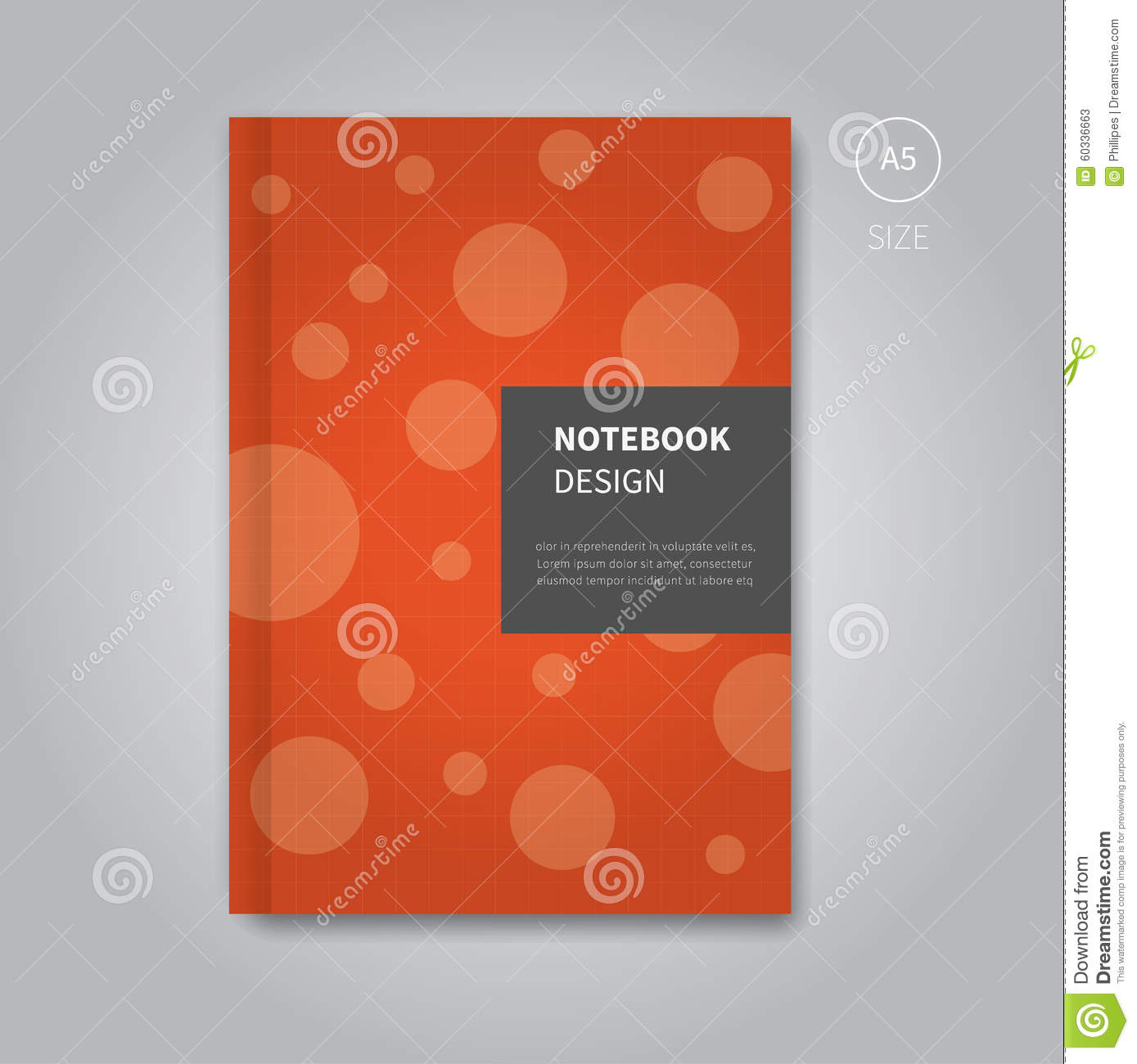 School Notebook Cover Design : Notebook cover design template stock vector image