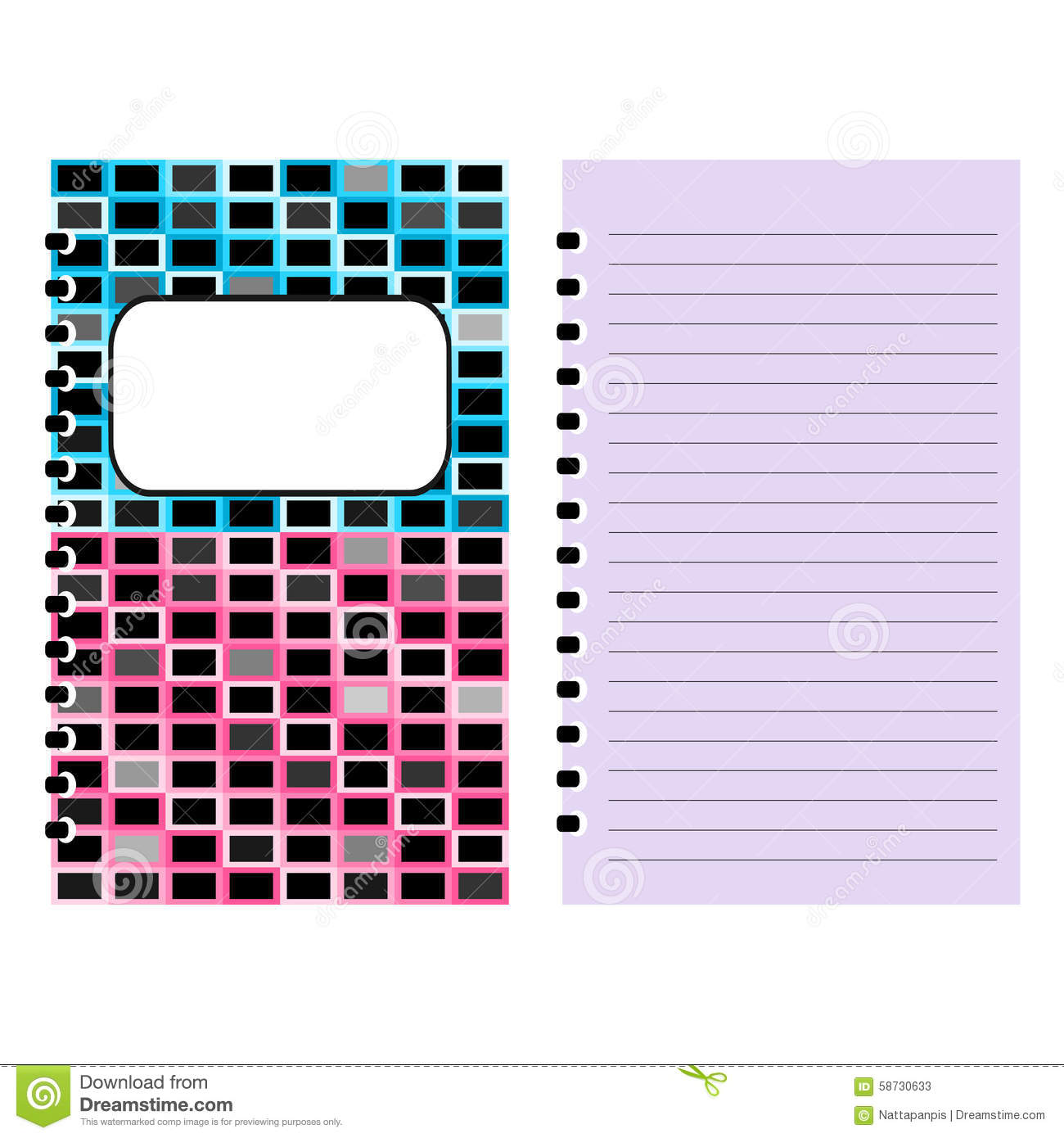 Notebook Cover Notebook Template Design Stock Illustration