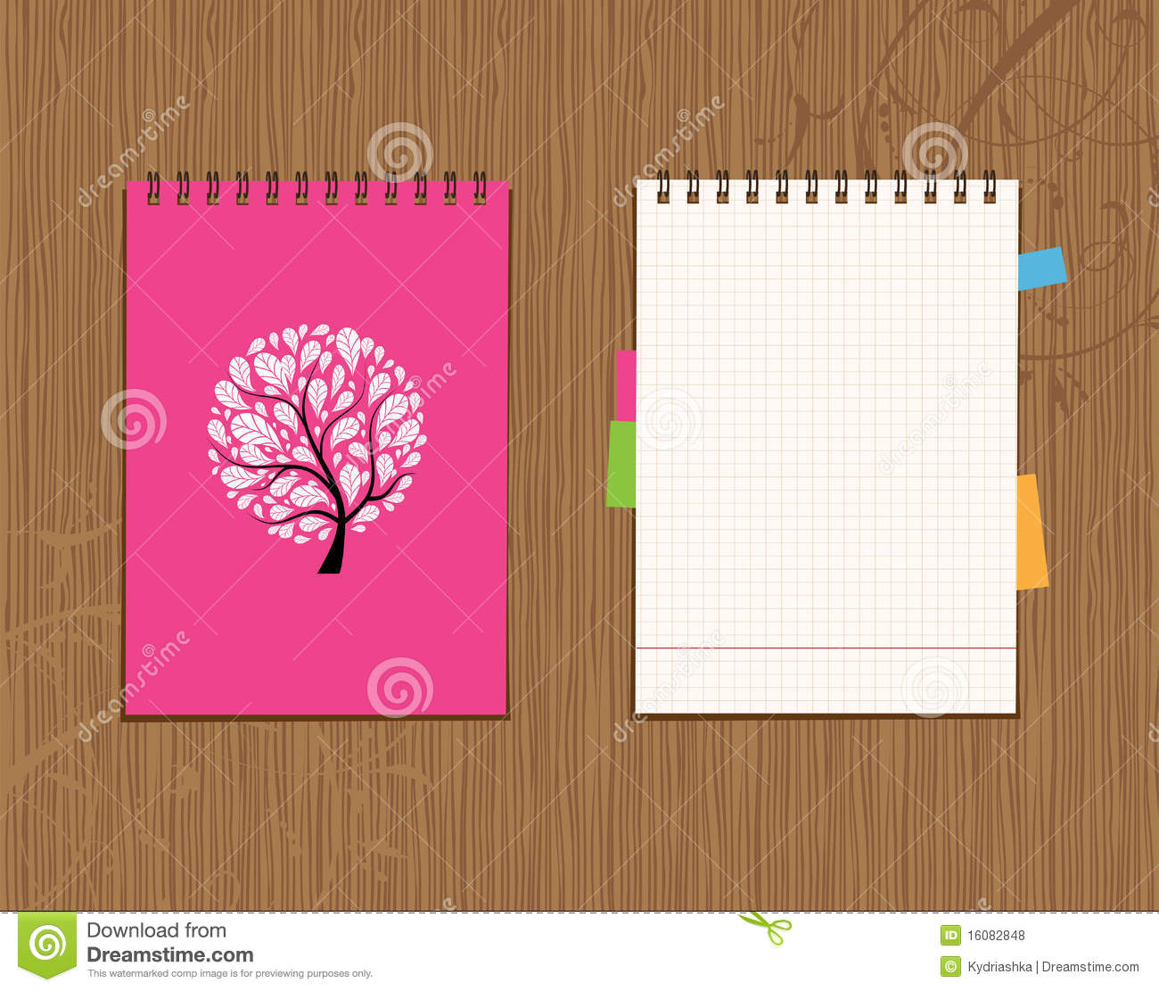 notebook cover and page design royalty stock images image notebook cover and page design royalty stock photos