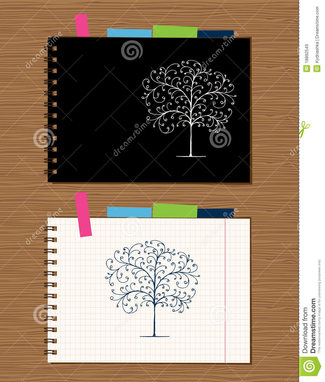 Notebook Cover Background : Notebook cover and page design royalty free stock images