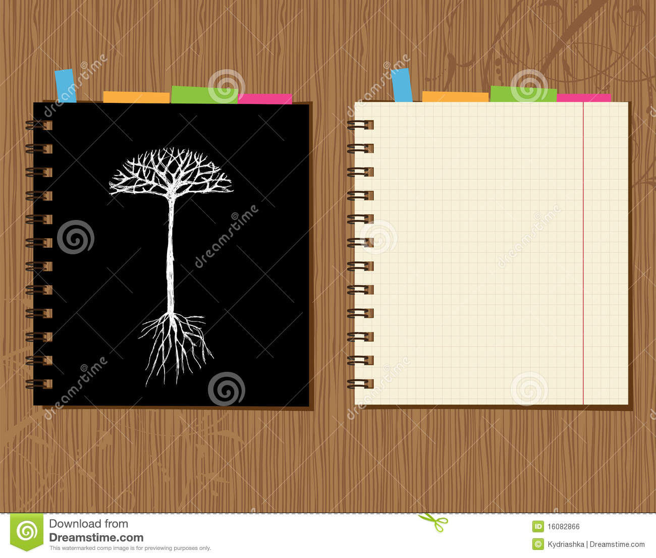 Notebook Cover And Page Design Wooden Background Royalty Free Stock Image Image 16082866