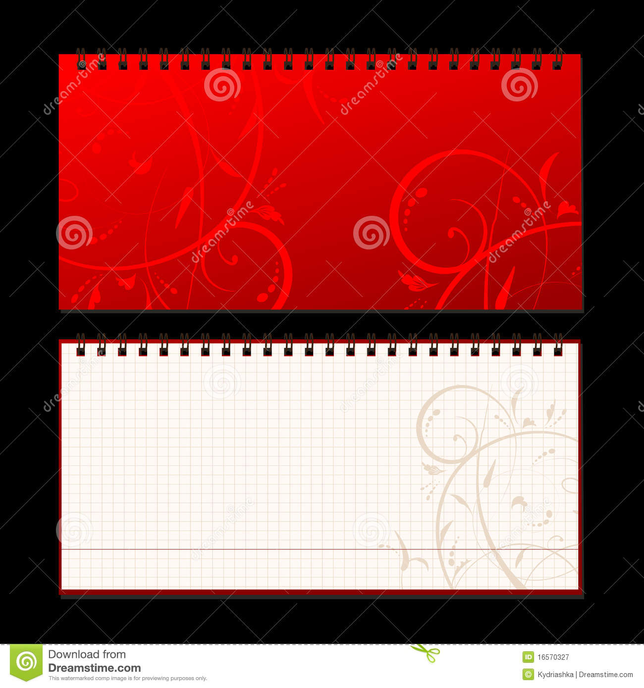 notebook cover and page for your design royalty stock notebook cover and page for your design