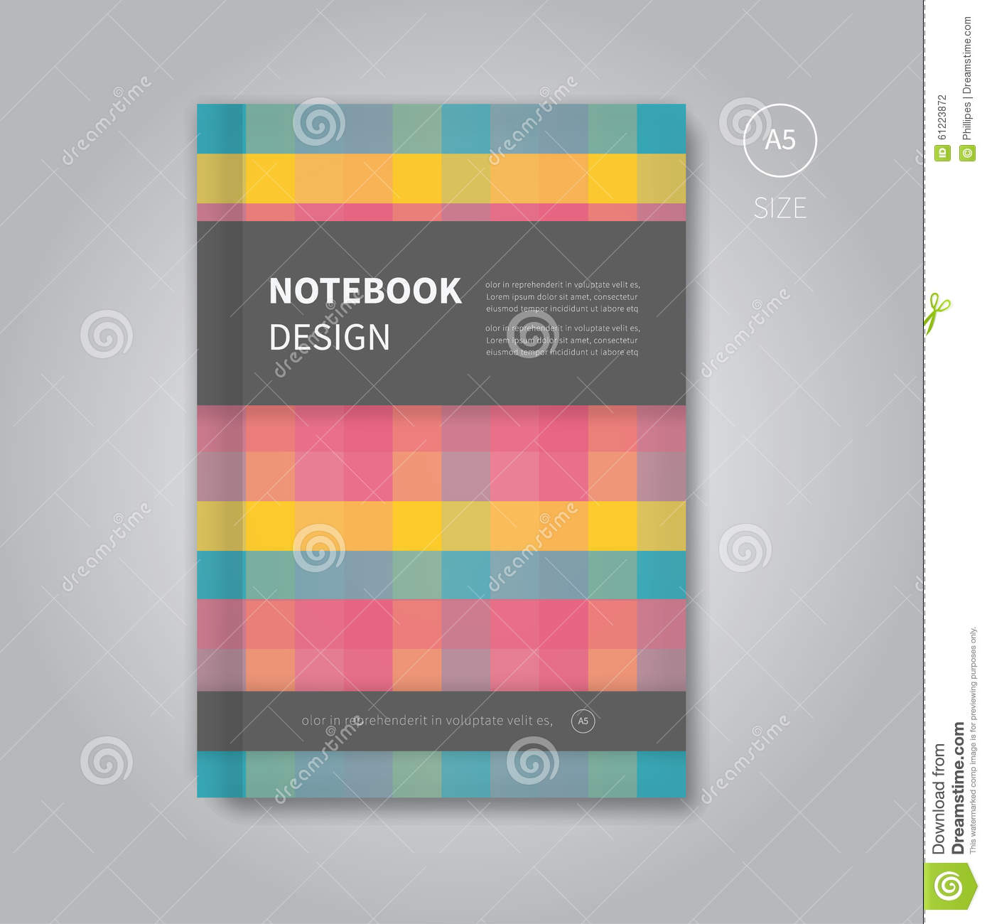 Cover page designs for school projects note book cover page design - Notebook Design In Abstract Style Stock Photography