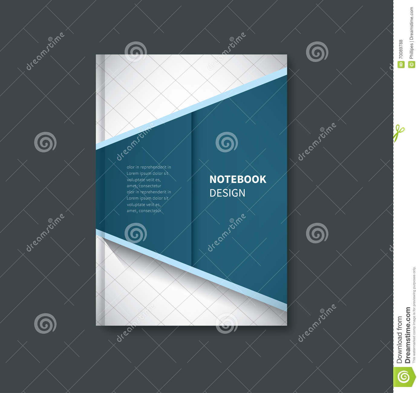 notebook first page cover design stock vector image  notebook first page cover design