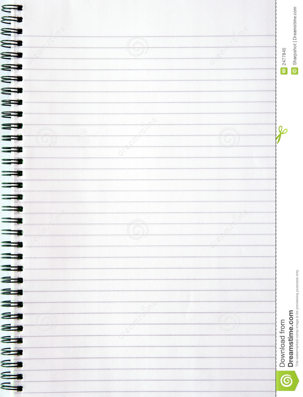 Notebook With Lined Paper Royalty Free Photo Image 2477845 – Paper Lined