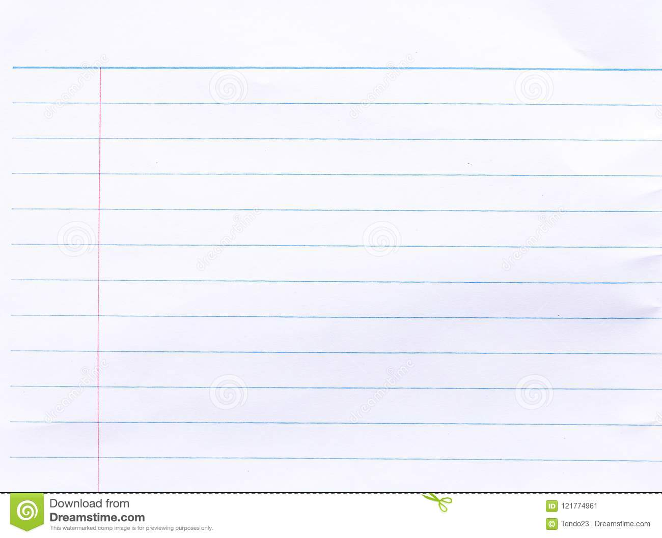 Notebook Lined Paper Background Stock Image Image Of Page