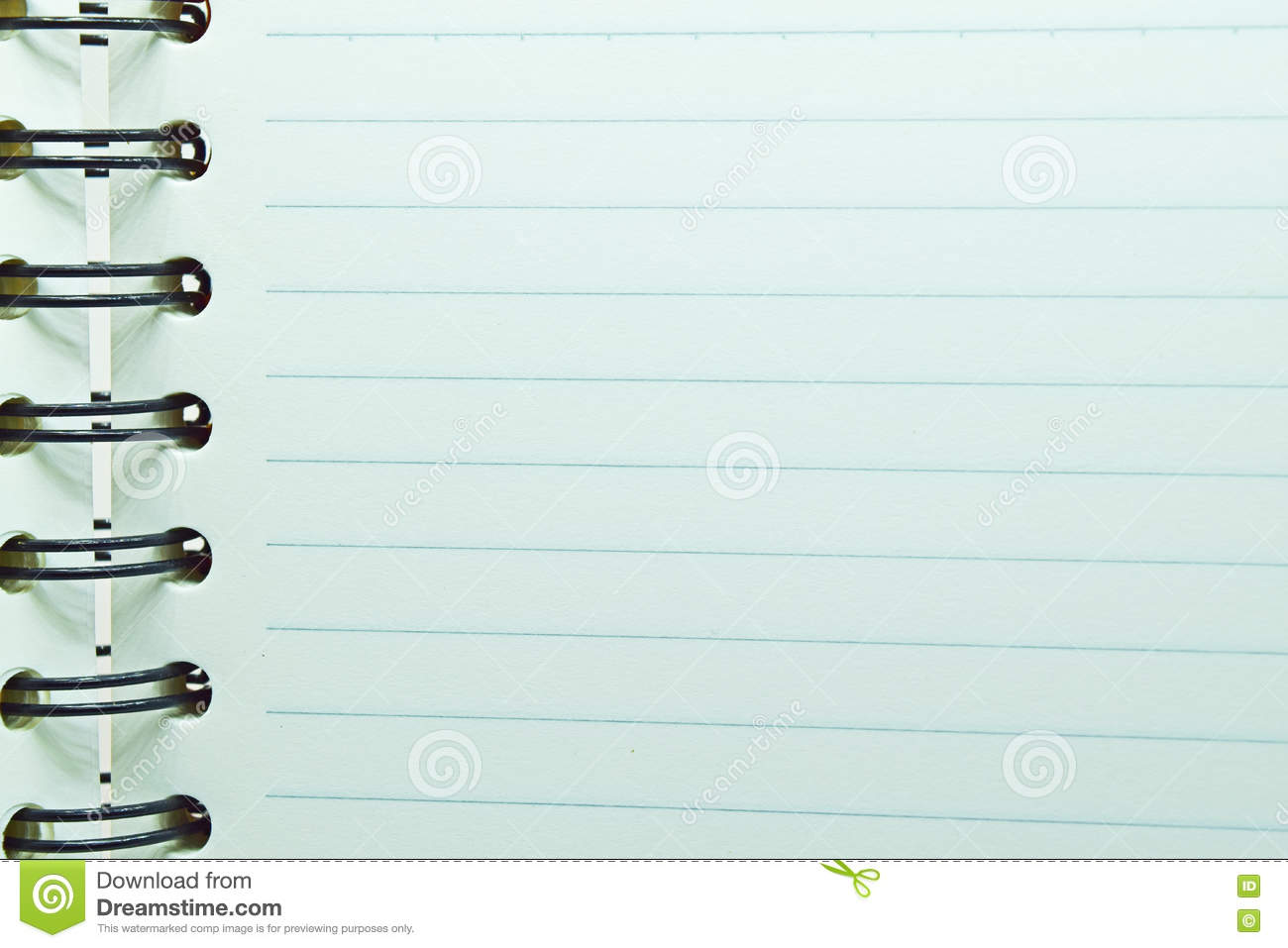 Notebook Lined Paper Photo Image 82217356 – Blank Lined Page