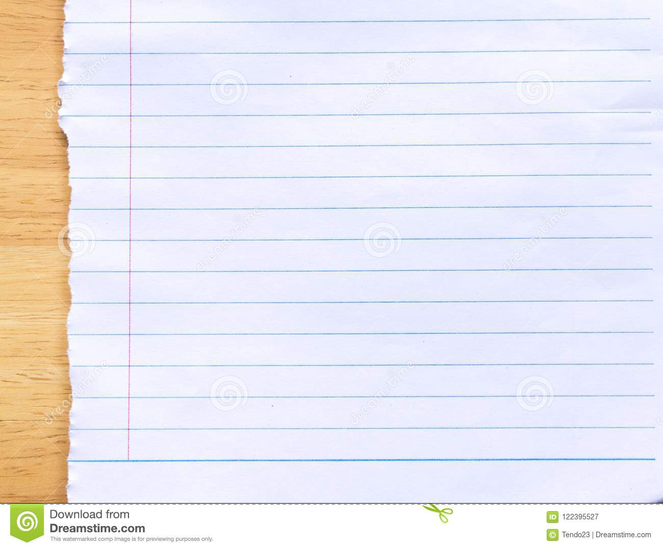 Notebook Lined Paper Background Stock Image Image Of Paper