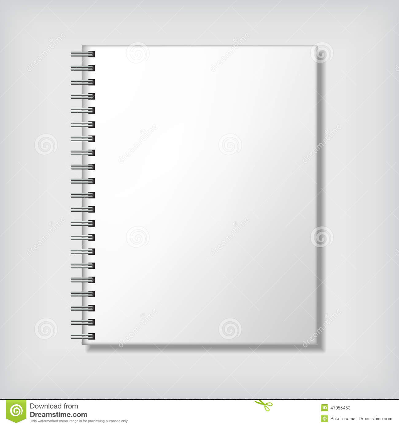 Notebook mockup, with place for texture. Corporate identity.