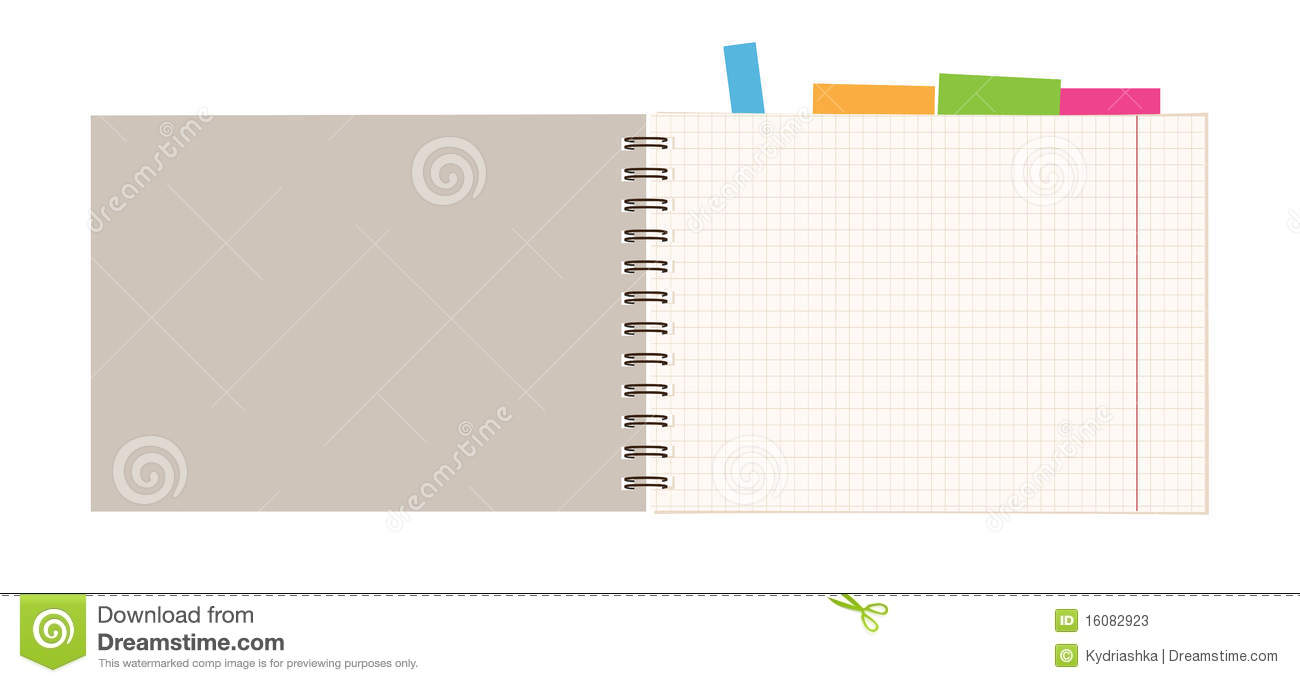 Notebook Open Page For Your Design Stock Photos Image