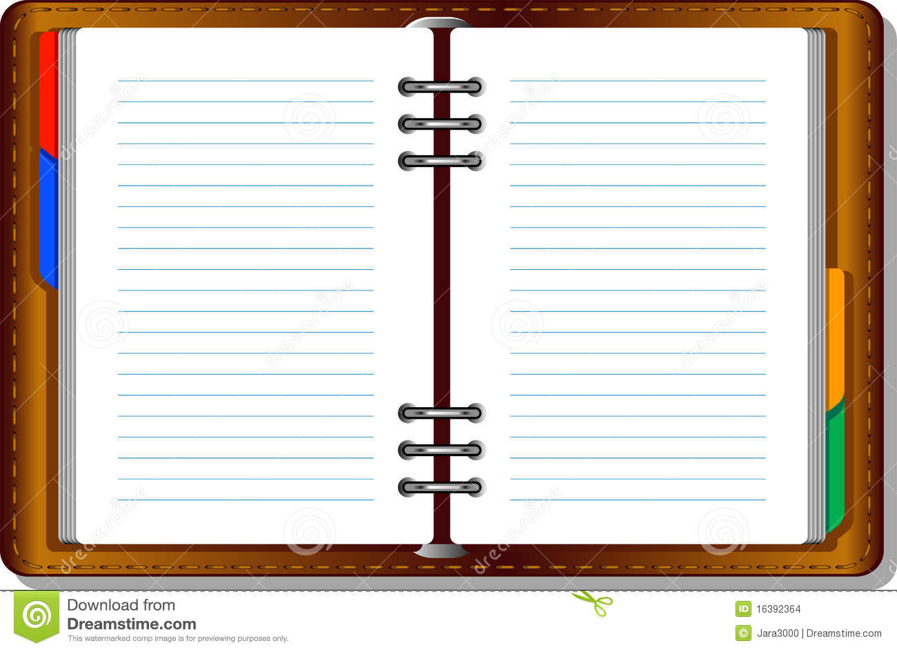 blank book page template
