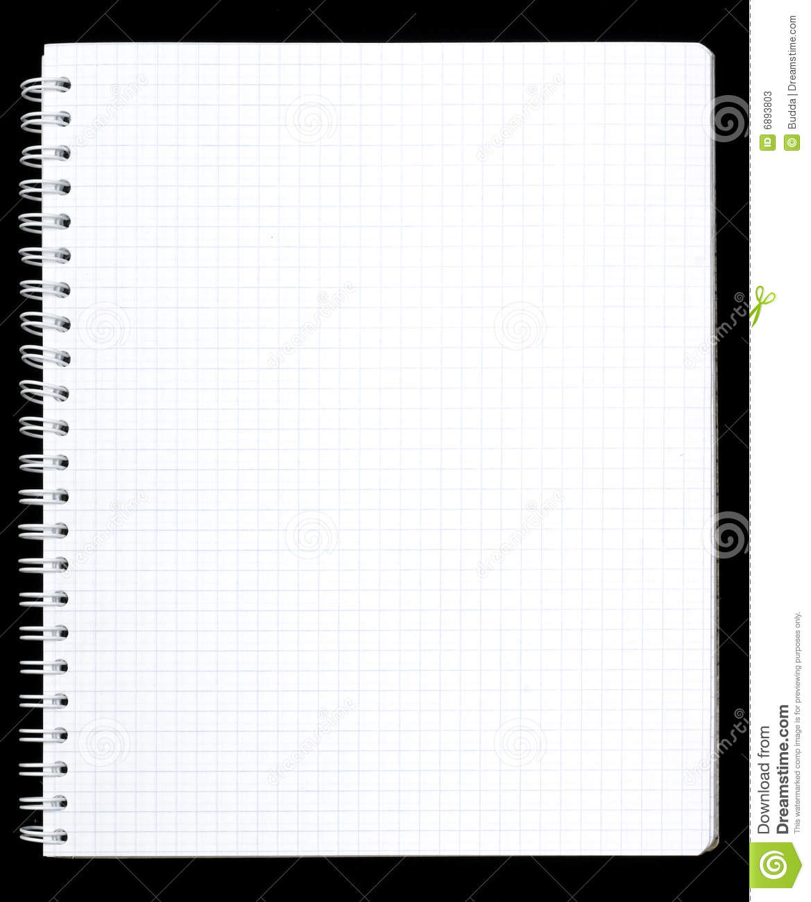 Notebook Page Stock Photos Image 6893803