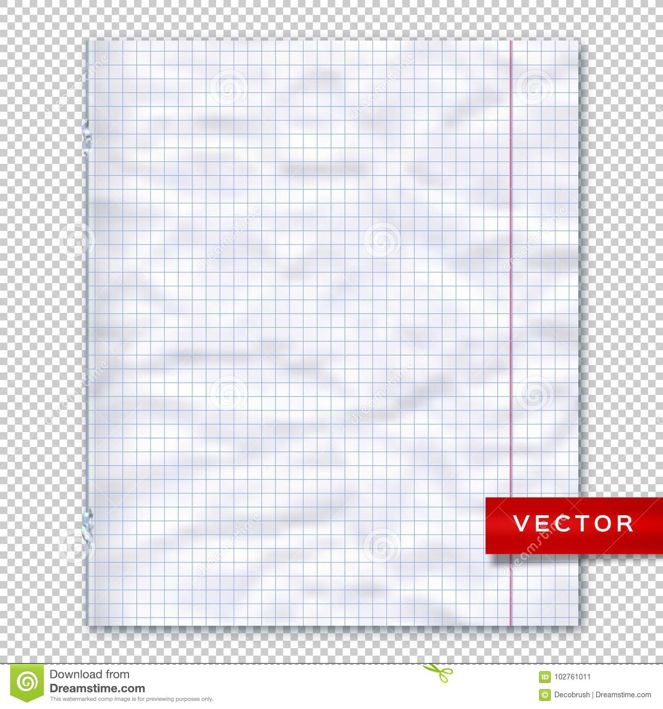 notebook page lined paper transparent background design template