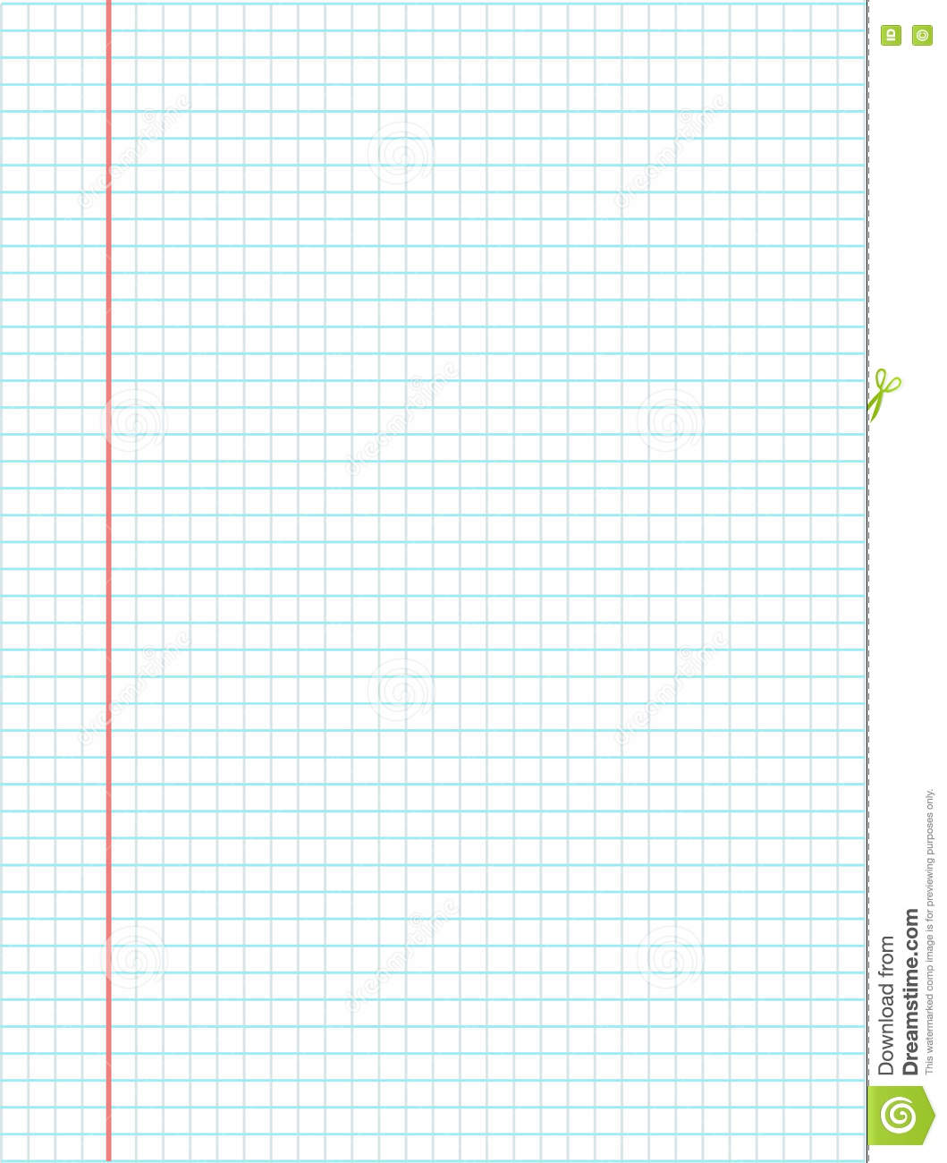 notebook page template vector stock vector illustration of