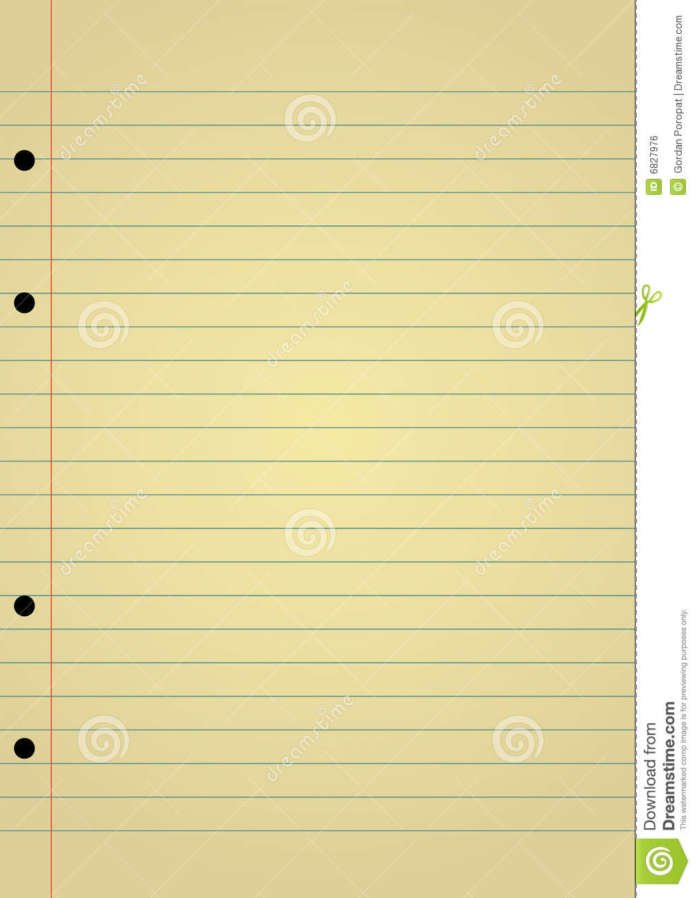Notebook Paper Royalty Free Image Image 6827976 – Yellow Notebook Paper Background