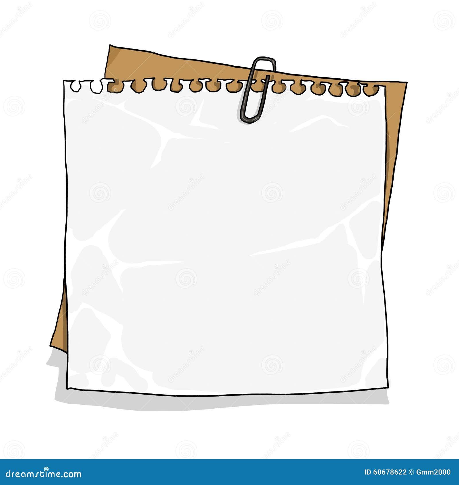 notebook paper on cardboard background stock illustration
