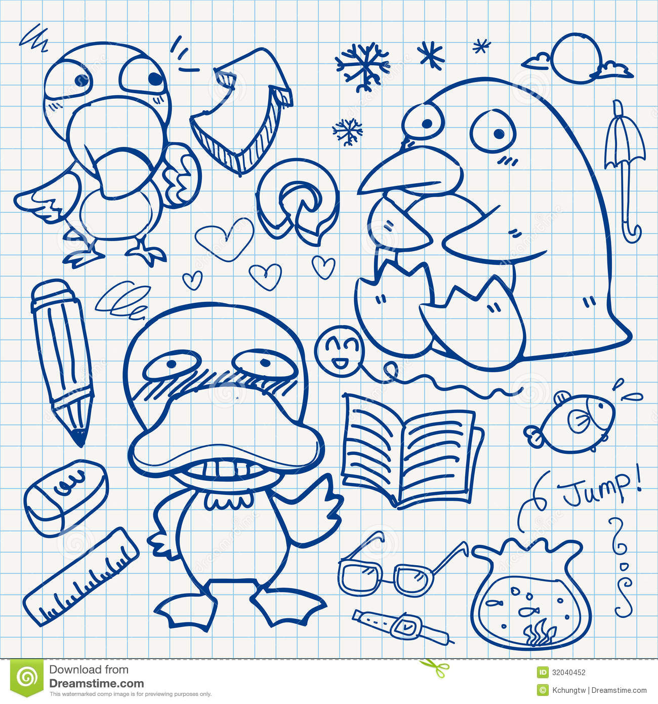 Notebook Paper Doodles Stock Photography Image 32040452