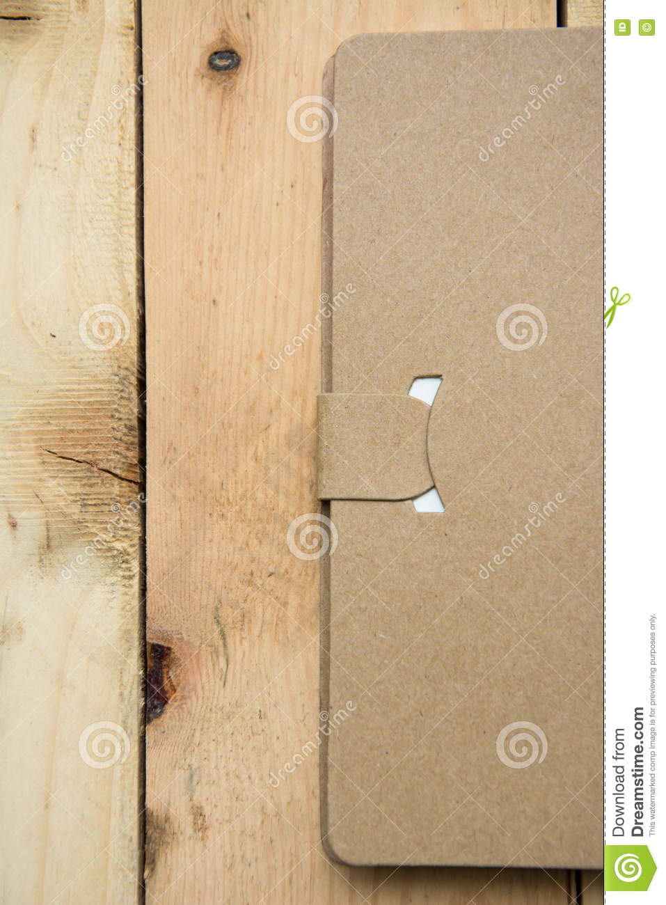 Download Notebook Paper Post It And Pen Top View On Wood Pallet Stock Illustration