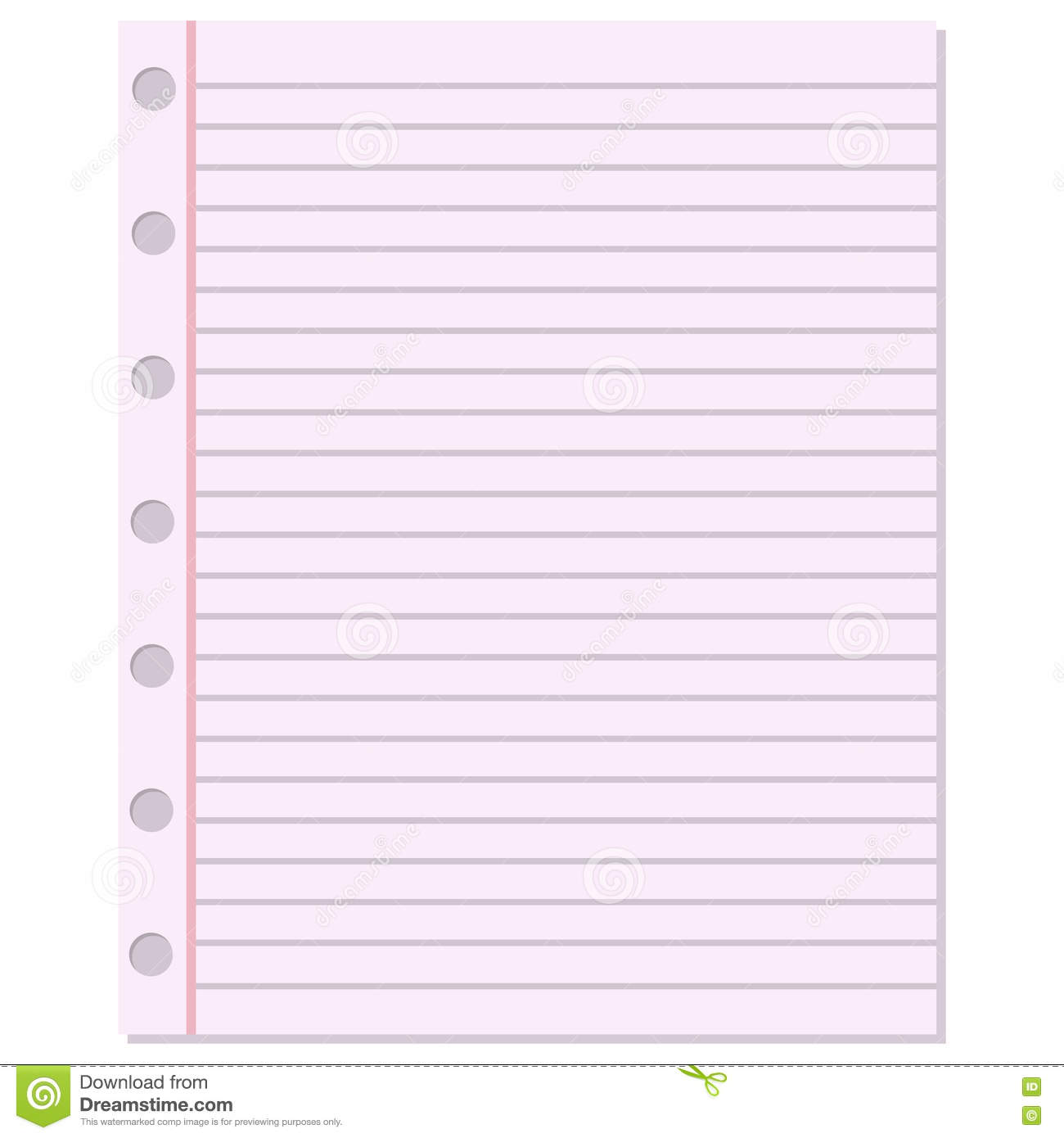 Notebook Paper Vector Background Vector Image 74629576 – Notebook Paper Download