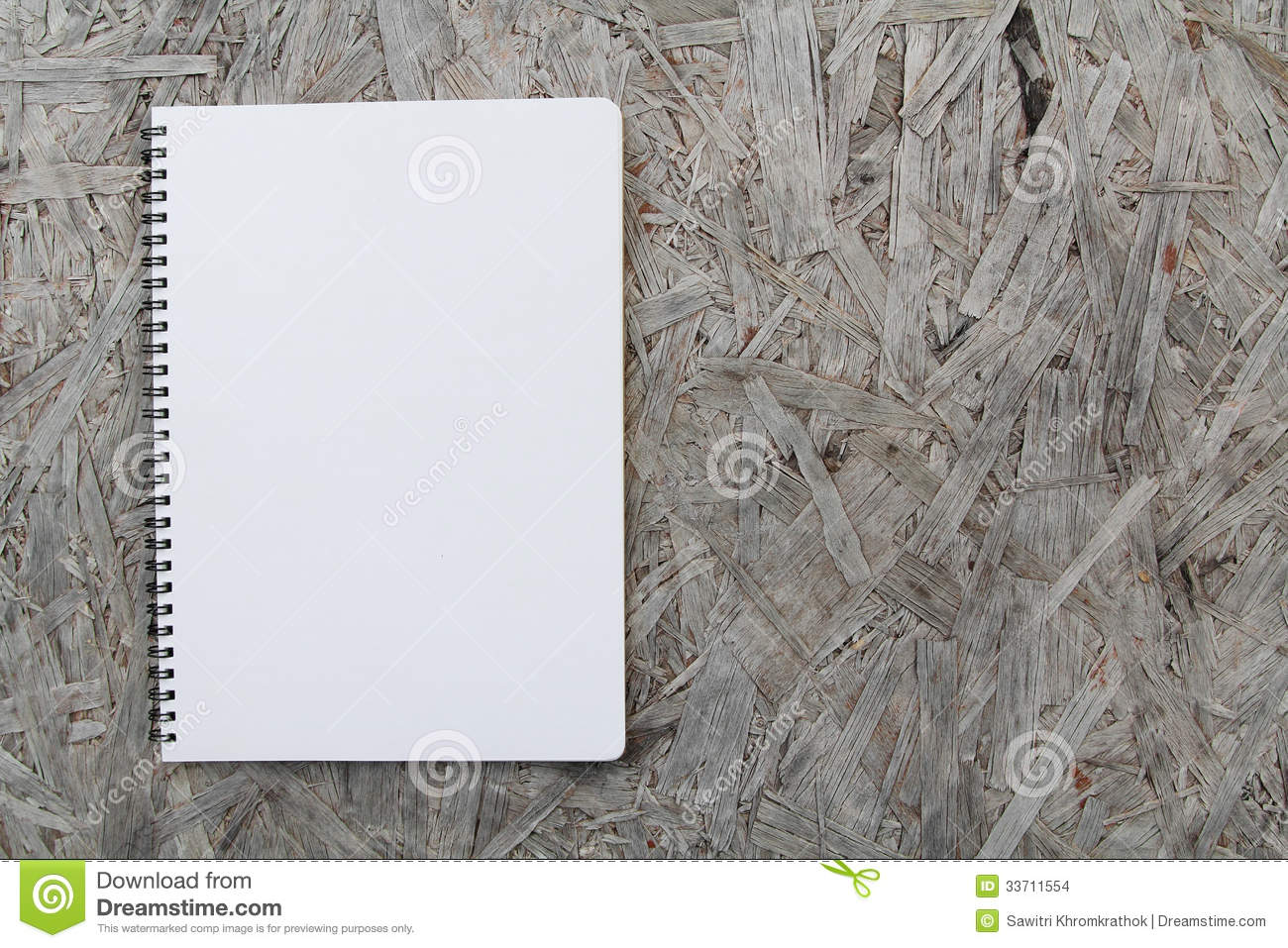 Notebook Paper On Wood Background Stock Images - Image ...