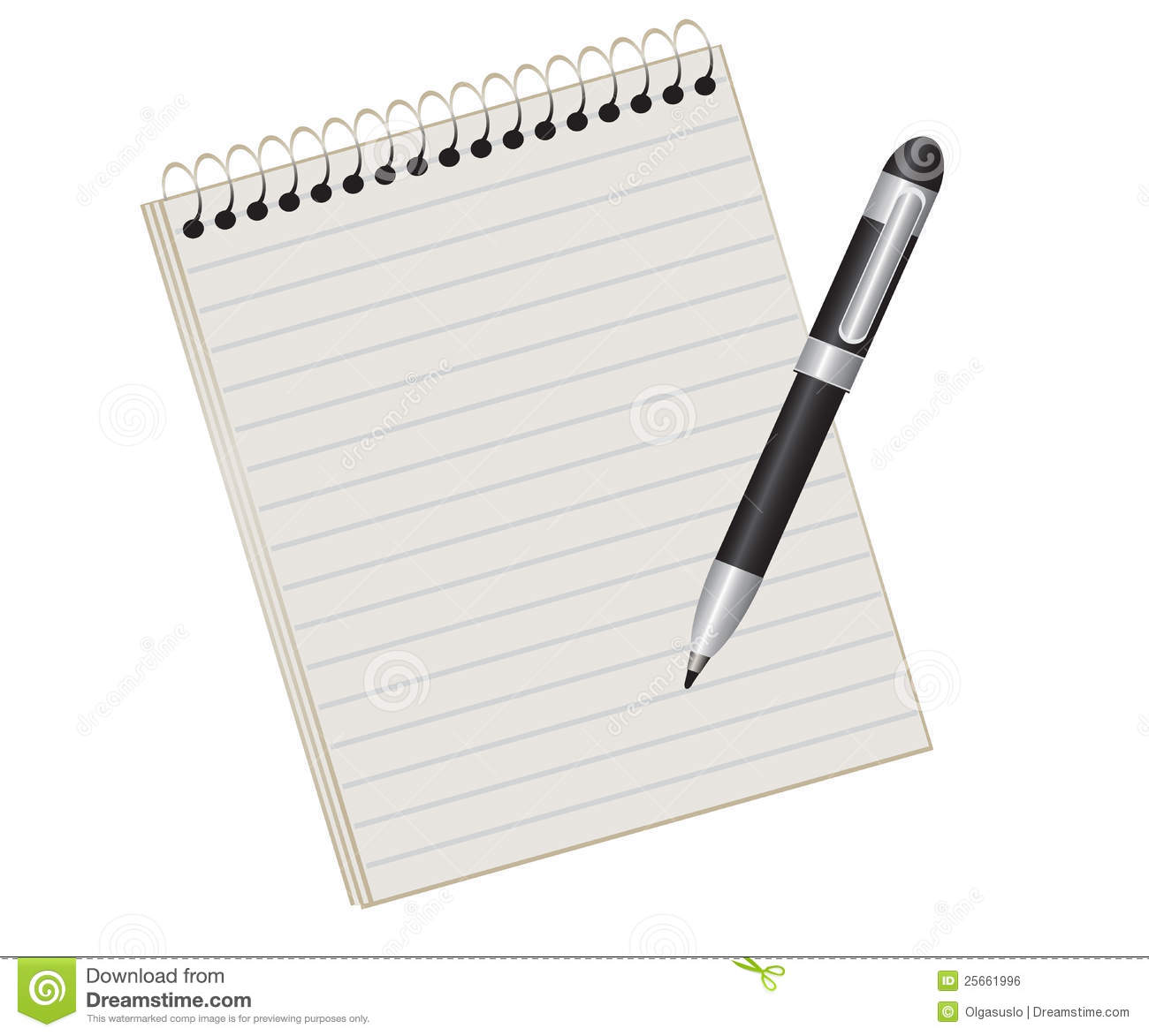 Notebook And Pen Royalty Free Stock Image - Image: 25661996