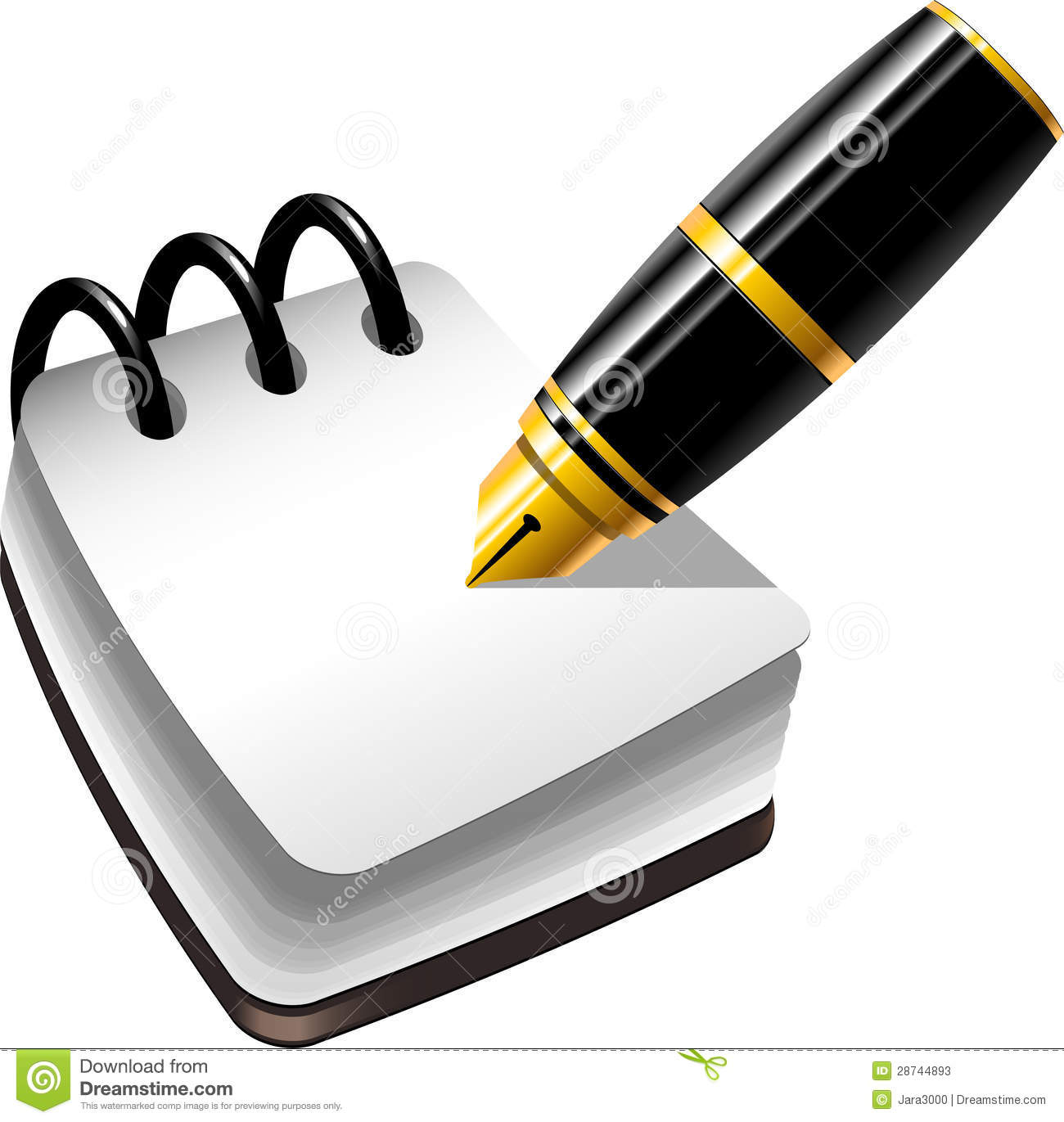 Stock Photos Notebook Pen Image28744893 on Yellow Spiral Book