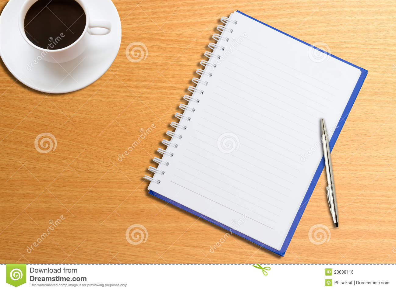 Notebook pen coffee on the table stock photo image 20088116 notebook pen coffee on the table geotapseo Gallery