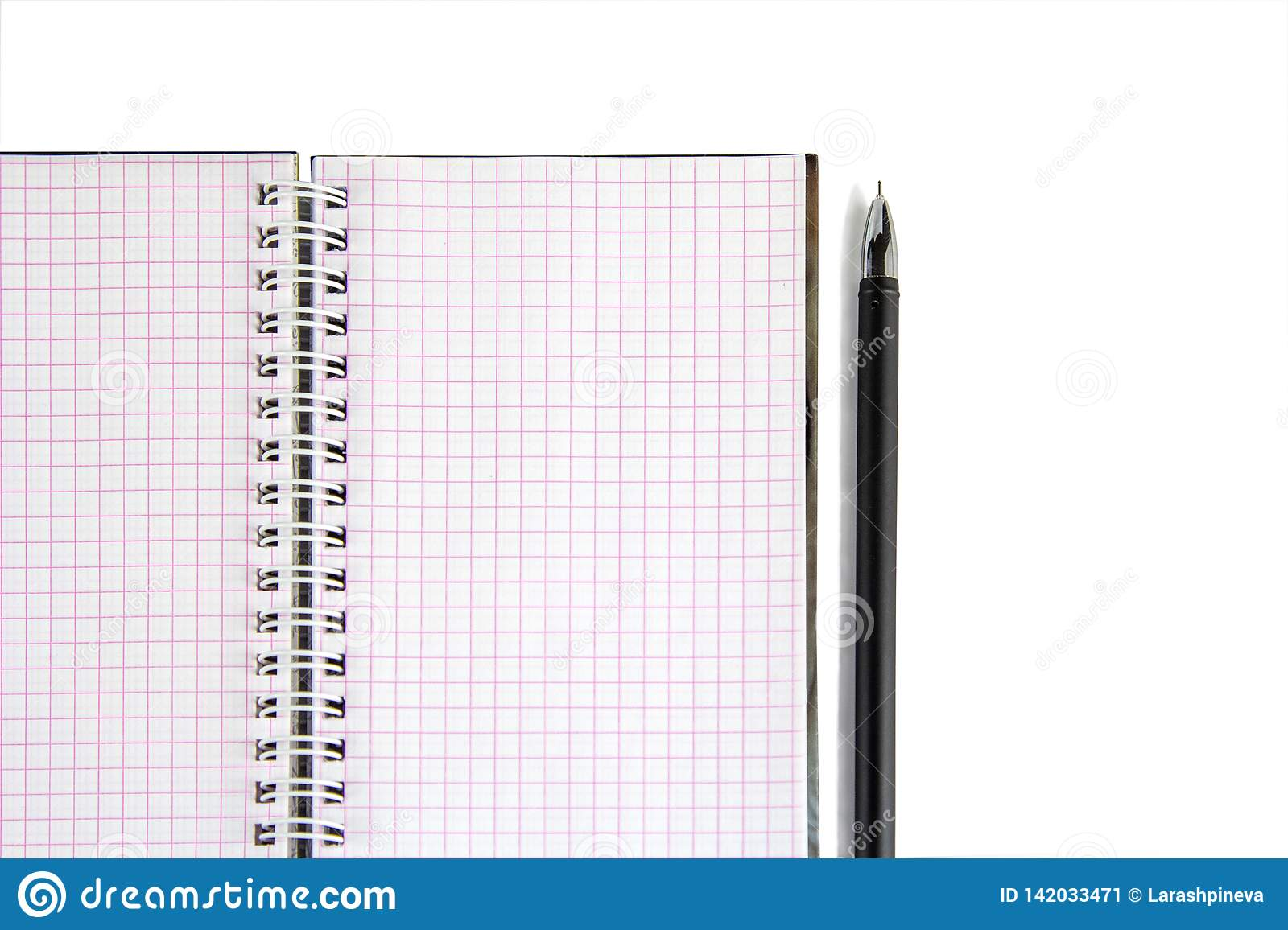 Notebook with pen- great design for any purposes. Creative business. Lifestyle, business finance, education technology concept.
