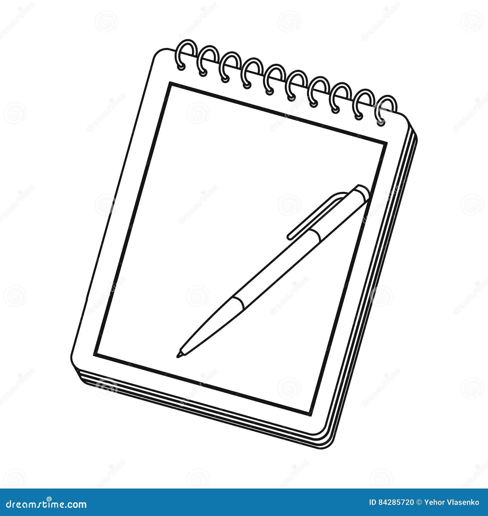 vector illustration notepad icon vector illustration