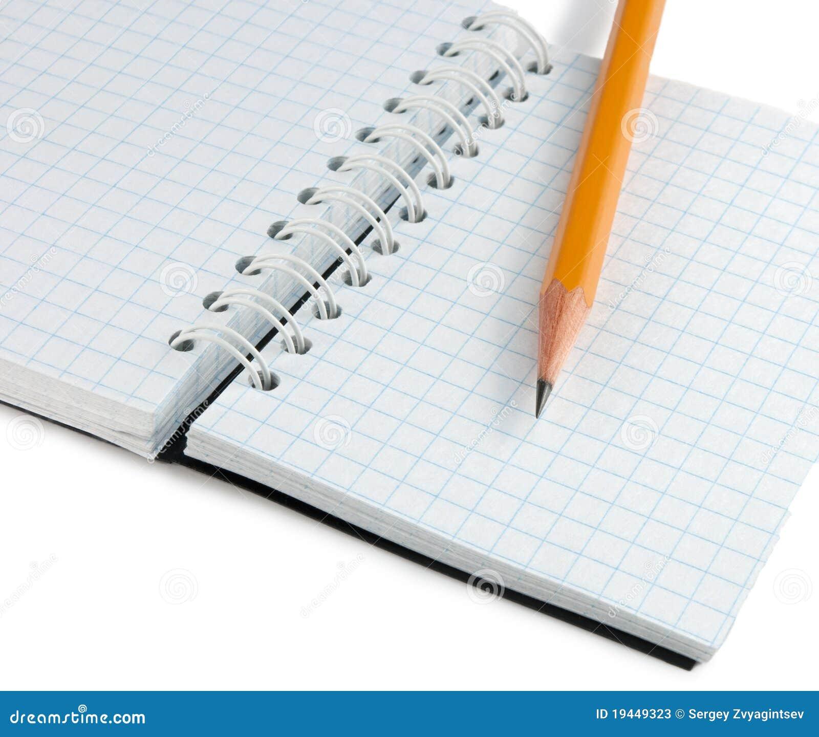 Notebook And Pencil Stock Photos Image 19449323