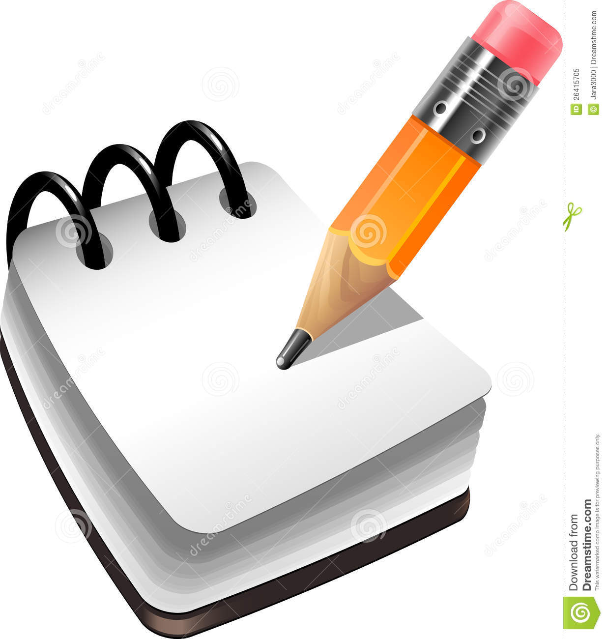 Notebook And Pencil Royalty Free Stock Photo - Image: 26415705