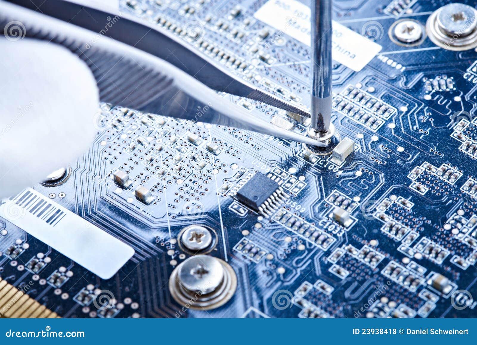 Notebook Repair Printed Circuit Board Stock Photo Image Of Circuitboardnotebook