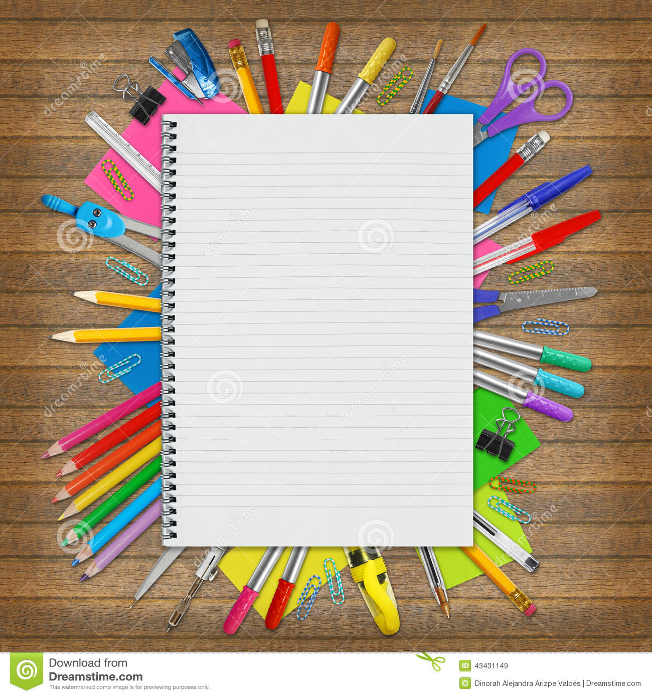 Notebook And Education Border Stock Image - Image: 43431149