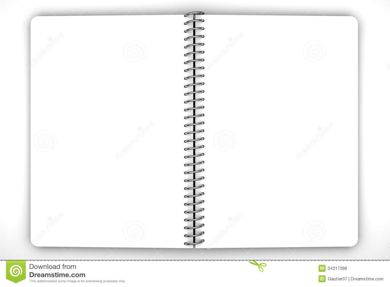 Royalty Free Stock Photos  notebookBlank Spiral Notebook
