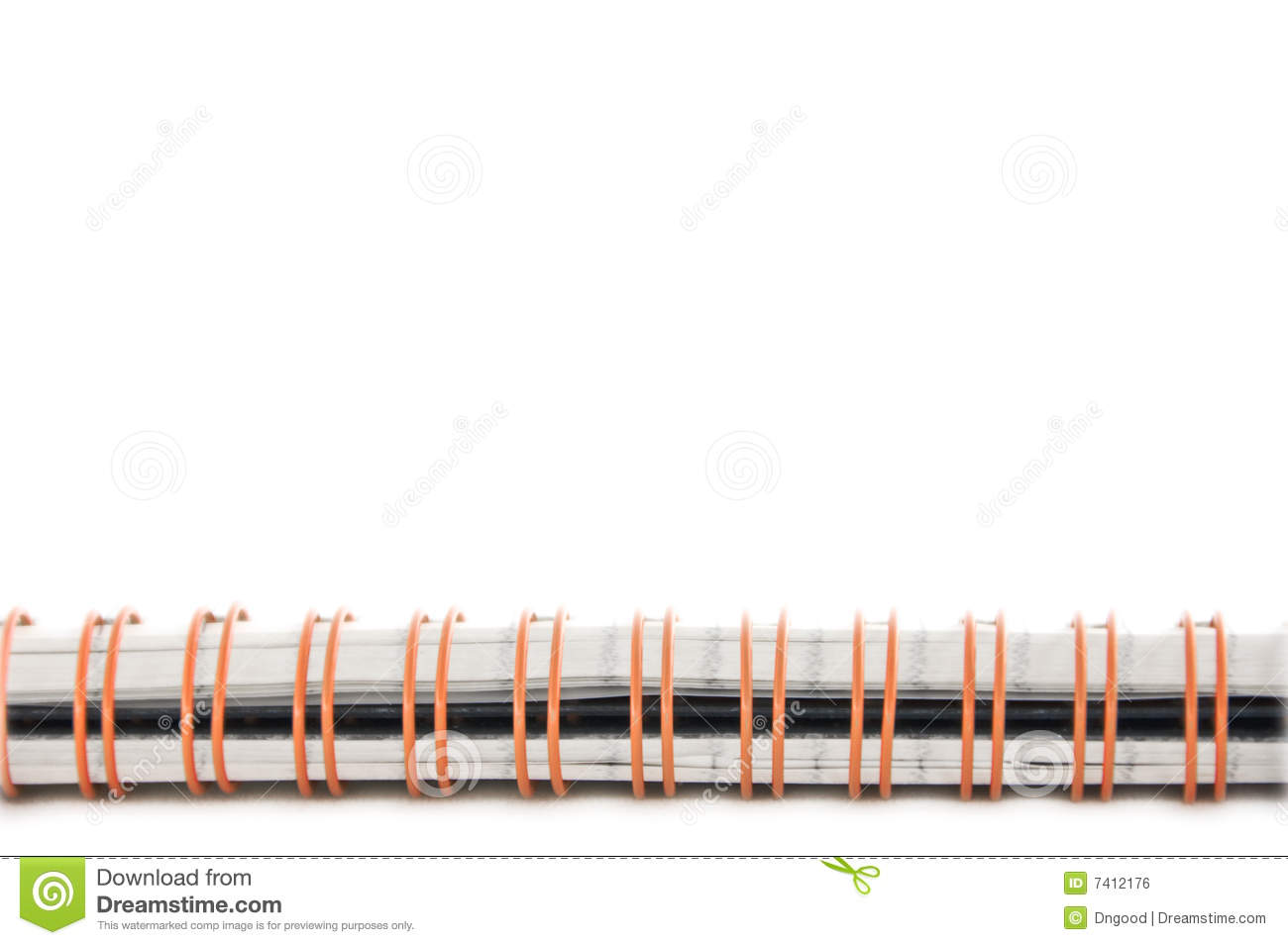 notebook spiral spine stock photo image of sheet cover 7412176