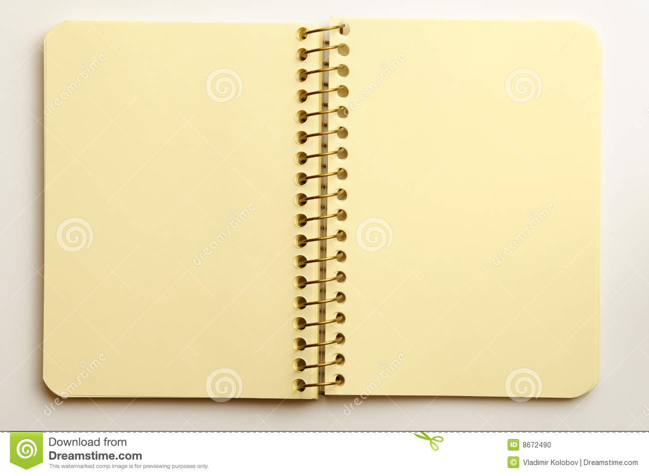 notebook on a white background stock photo image 8672490