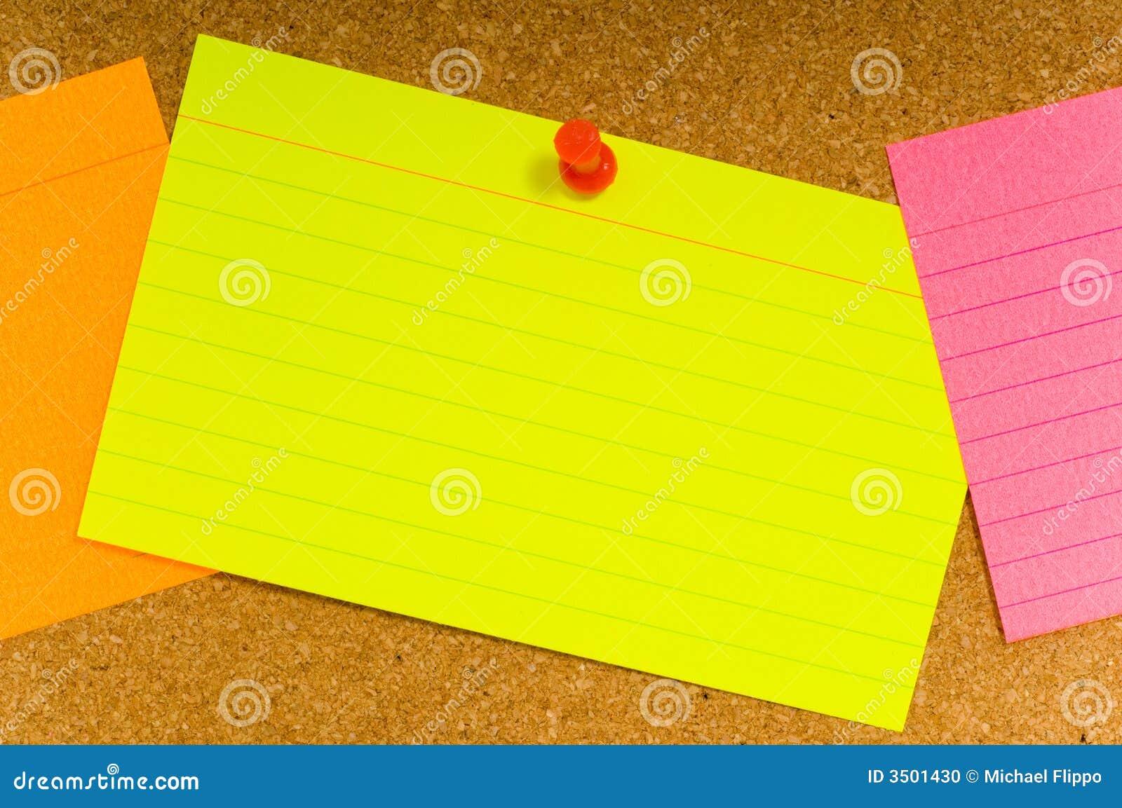 Notecard no corkboard