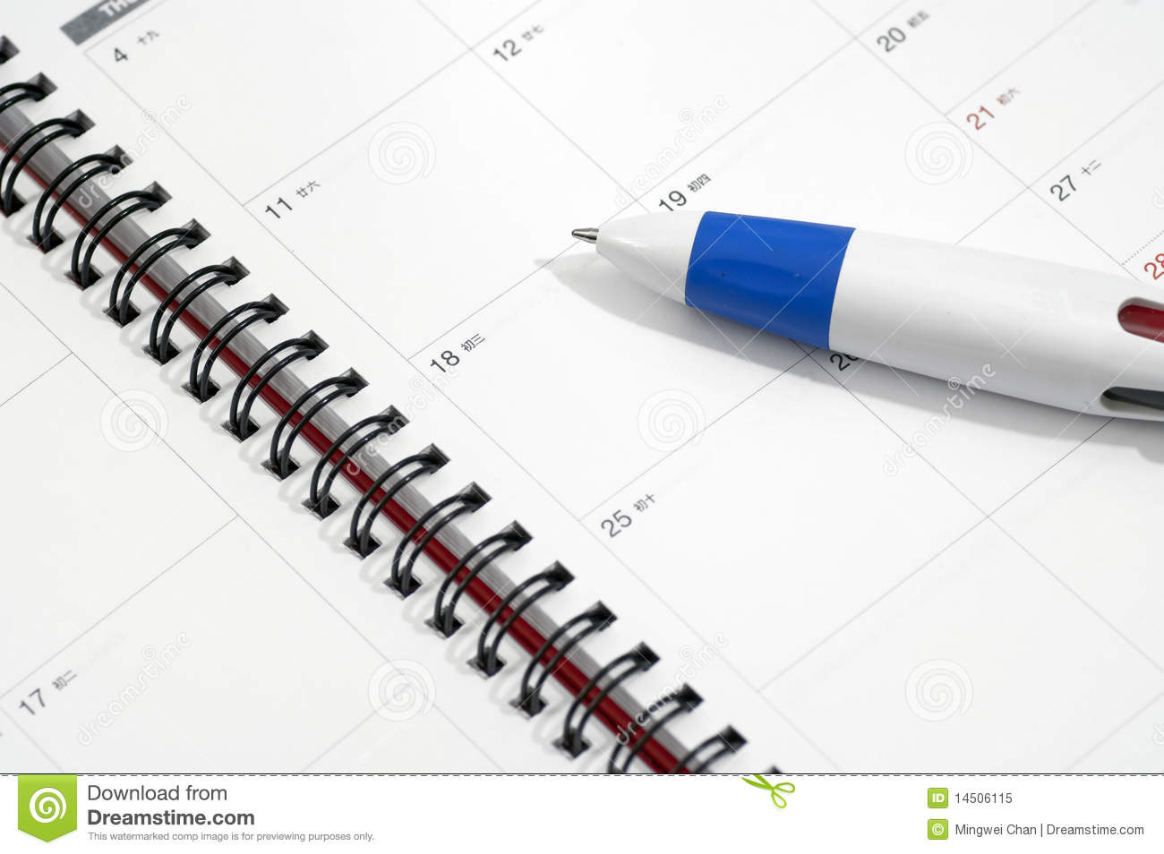Download Notepad Dairy stock image. Image of white, list, book - 14506115