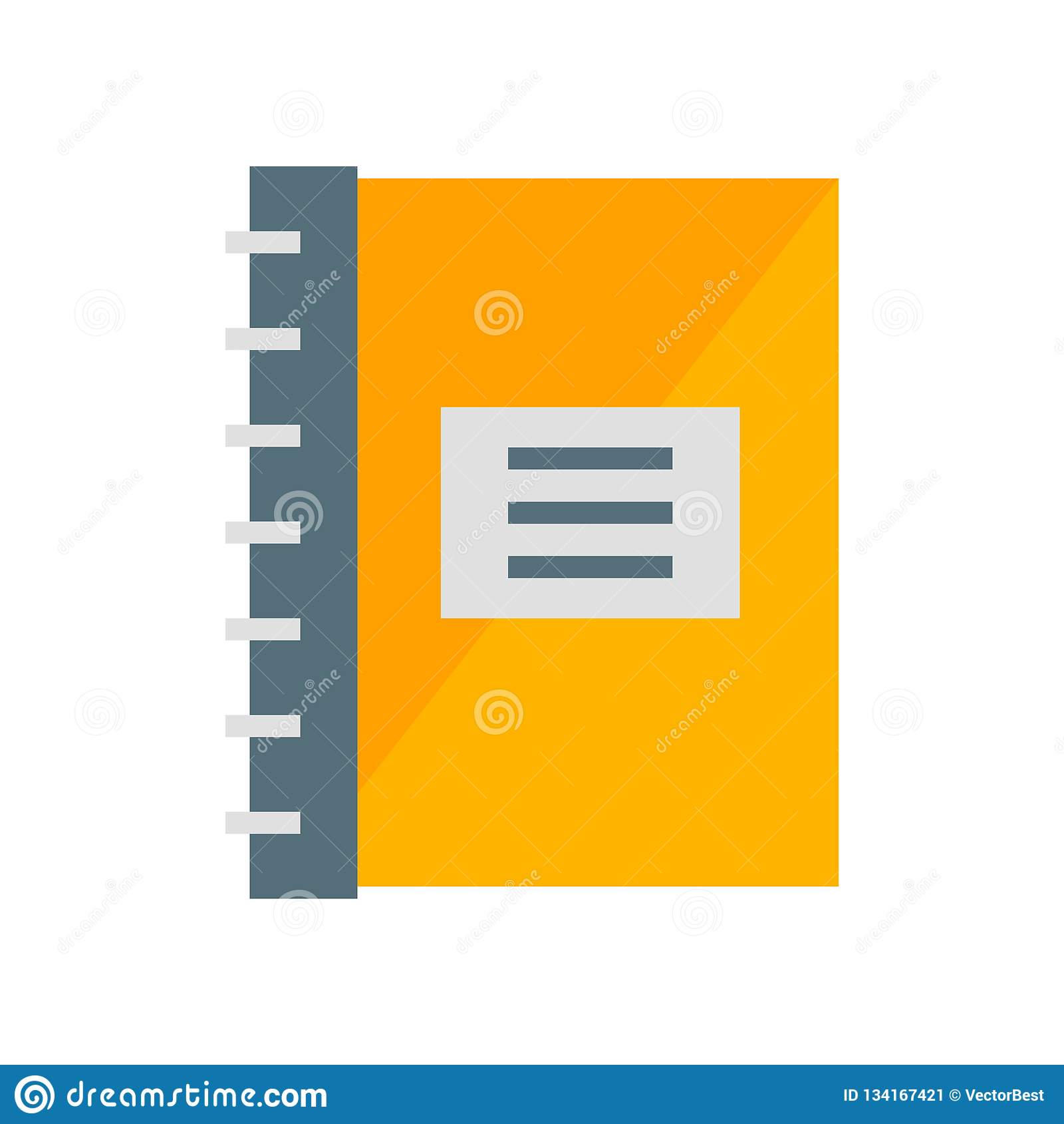 Notepad icon vector isolated on white background, Notepad sign , industry symbols