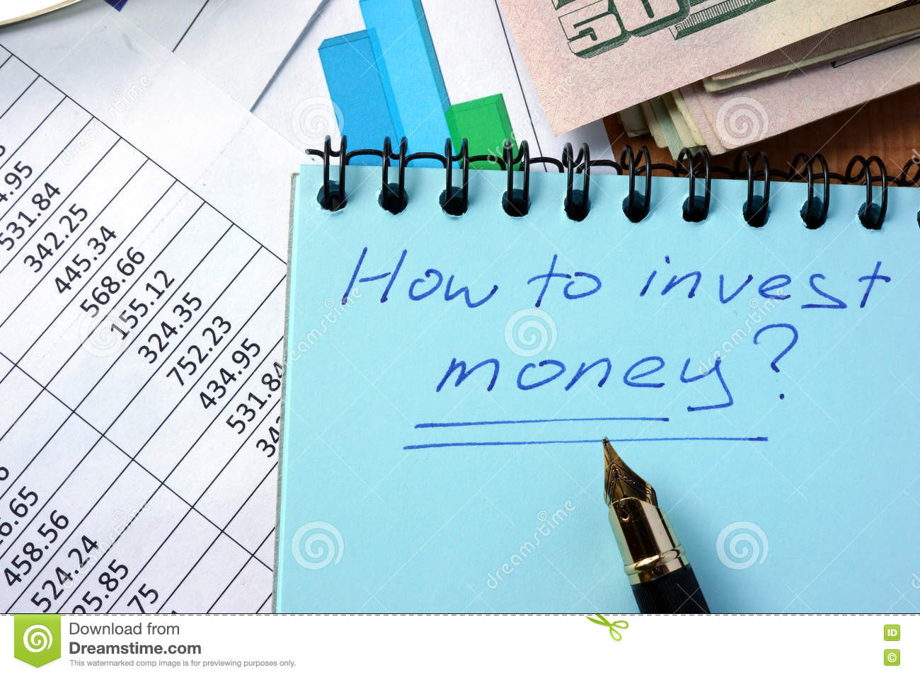 Notepad With Inscription How To Invest Money