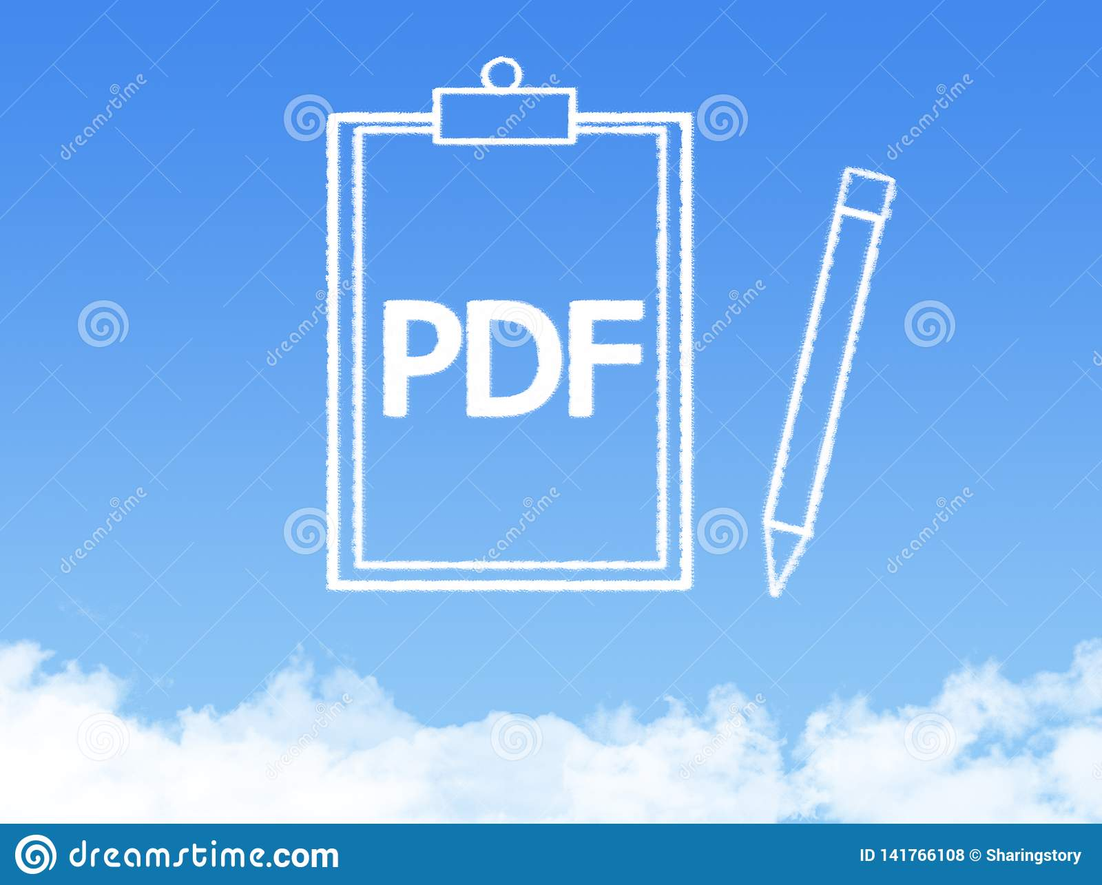 Notepad paper document cloud shape