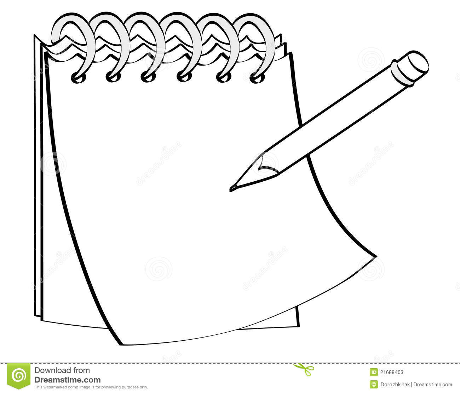 Stock Photos Notepad Pencil Image21688403 on Cartoon Coffee