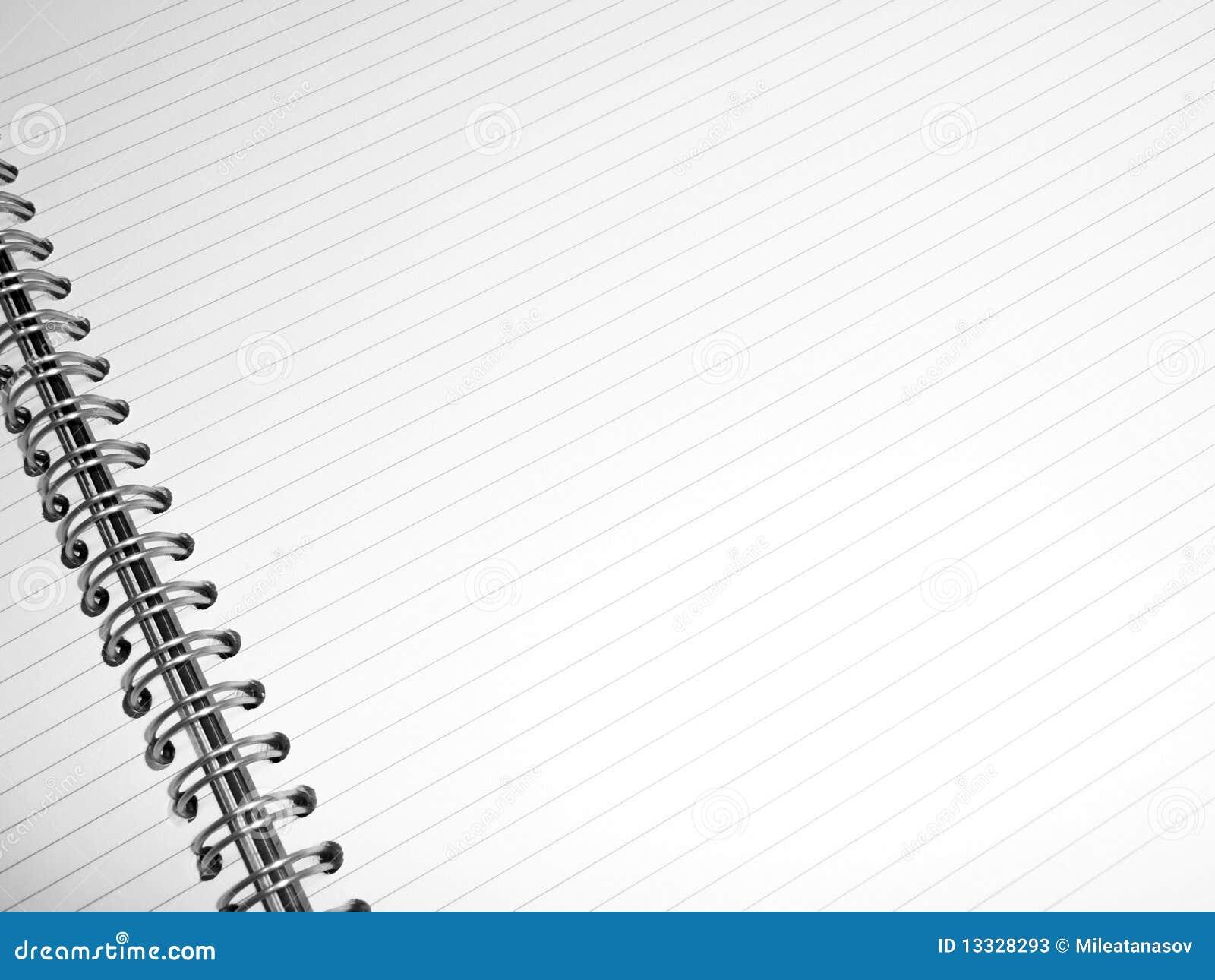 Notepad prążkowany biel