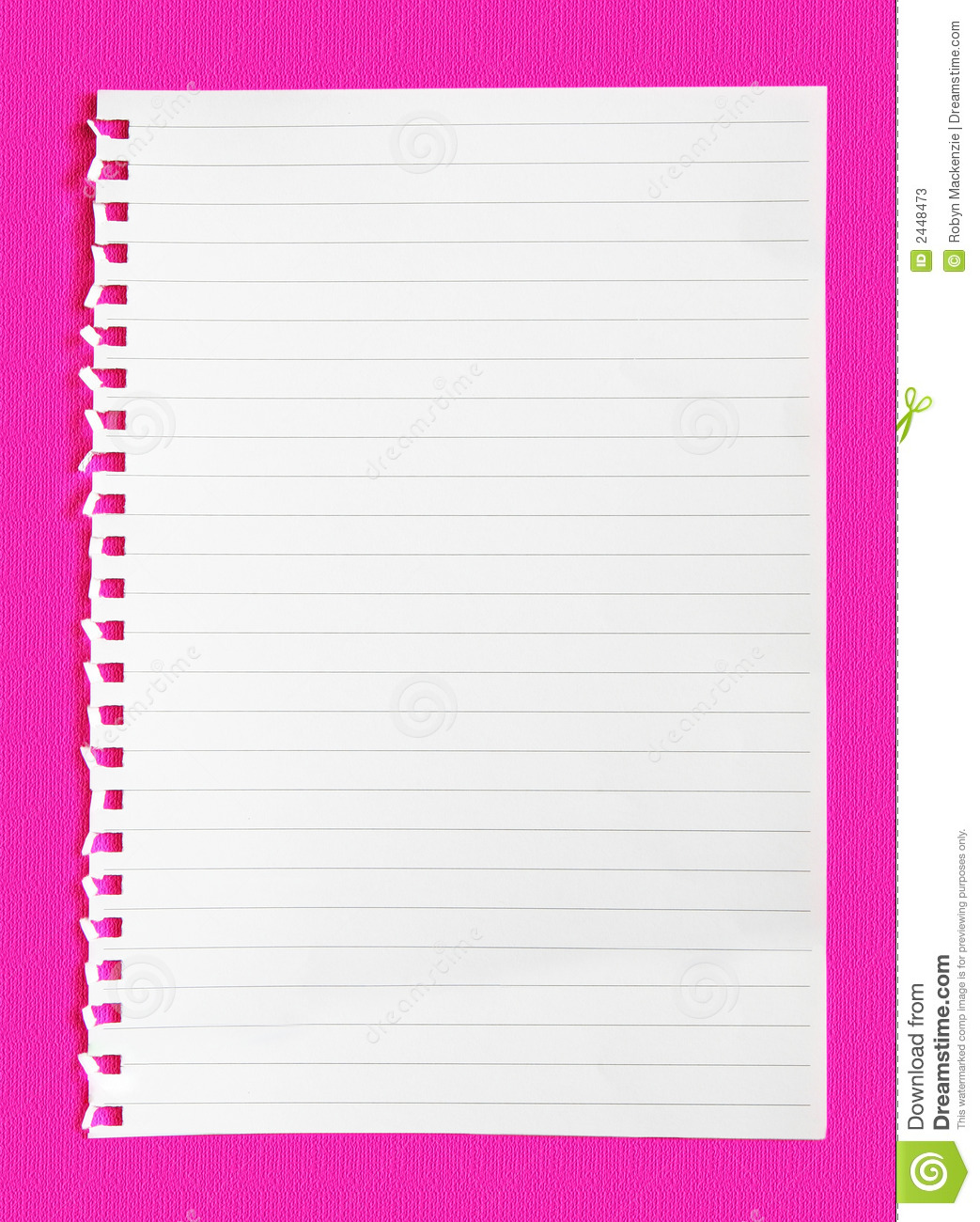 Notepaper on Neon Pink stock image. Image of background ...
