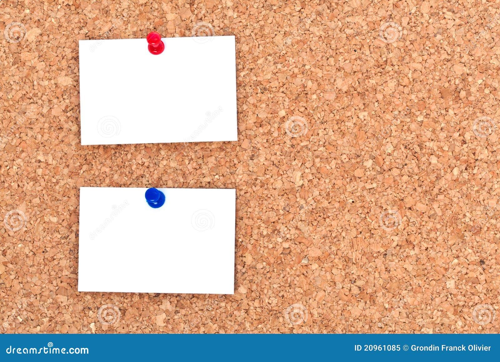 notes blanc sur le tableau d 39 affichage image stock image du cole bleu 20961085. Black Bedroom Furniture Sets. Home Design Ideas